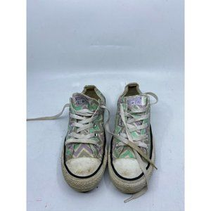 CONVERSE Sneakers White Green Purple Men's Size 4